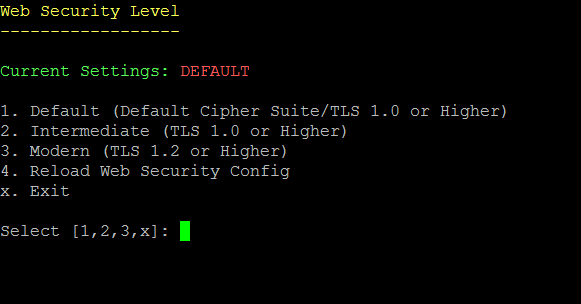 57b27f6a020 Select the appropriate web SSL/TLS setting to enable the desired level of  security for your network.