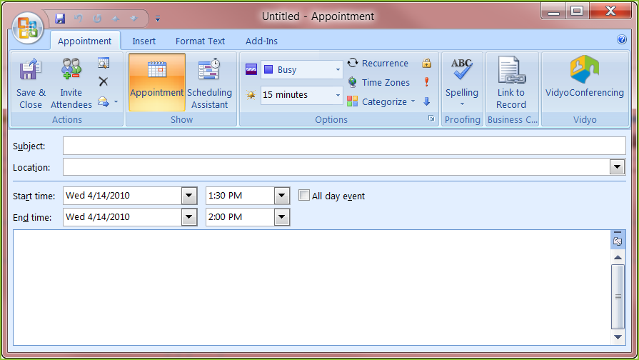 Sending A Meeting Invitation From Microsoft Outlook 2003 And 2007