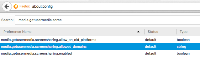Configuring FireFox for use with VidyoWeb on WebRTC – VidyoCloud Support